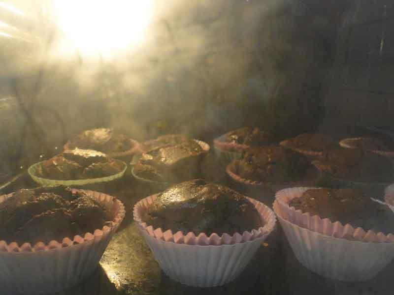 receta de magdalenas de chocolate sin azúcar para diabéticos