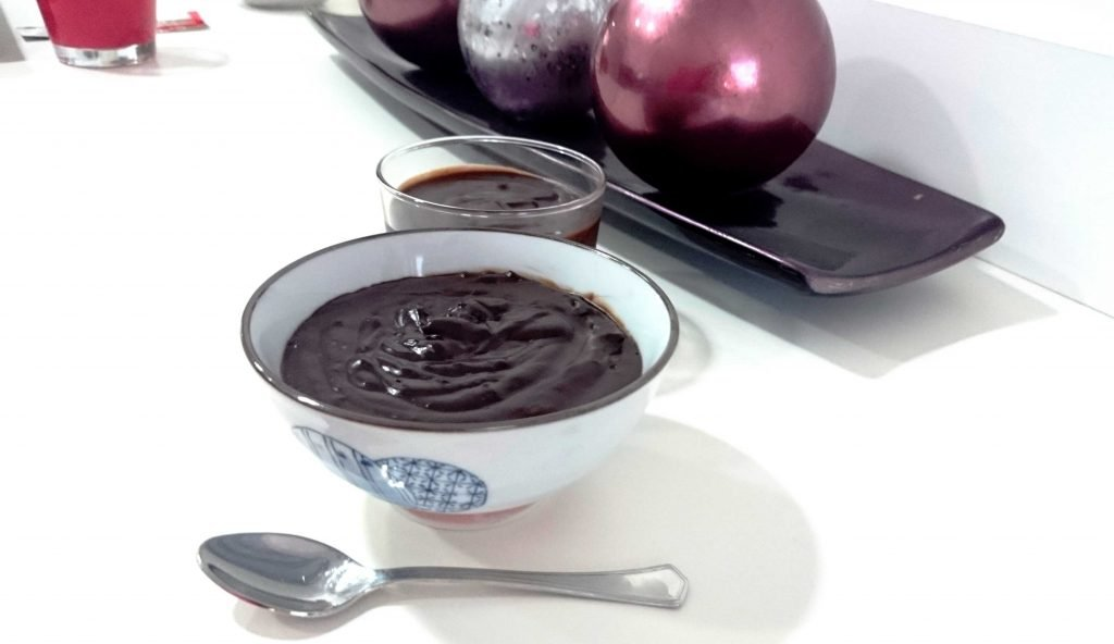 receta de gelatina de chocolate sin azúcar