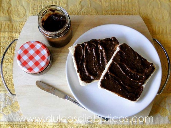Nutella casera sin azucar apta para diabeticos