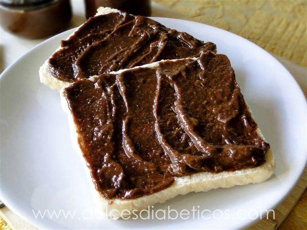 Nutella sin azucar en tostadas
