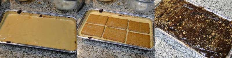 pastel de galletas chocolate y crema sin azucar - 3