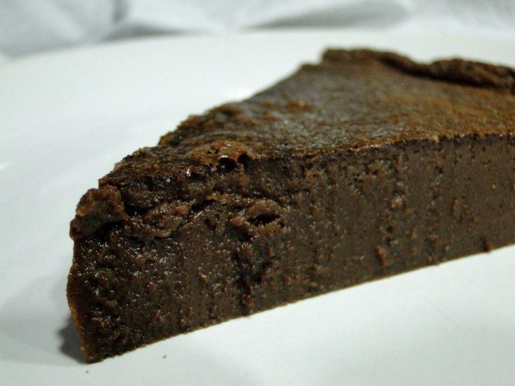 tarta fondant de chocolate sin azucar - zoom