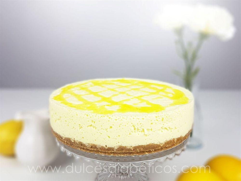 Tarta de limon sin azucar mousse .
