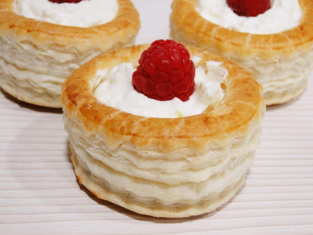 vol au vents sin azucar