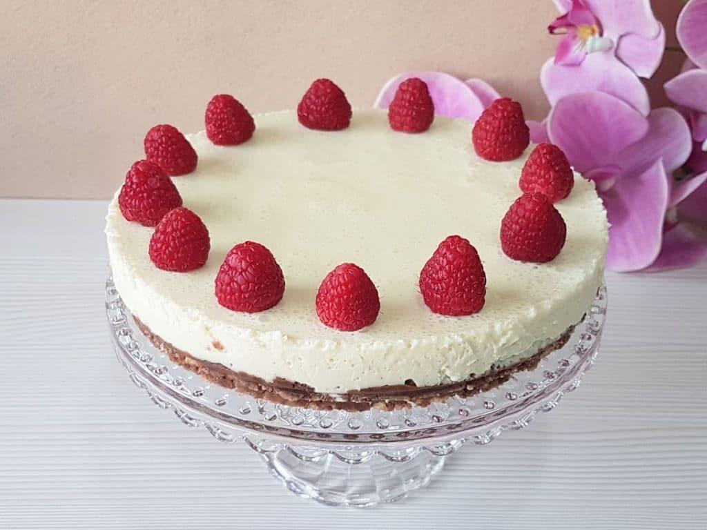 tarta de mascarpone y chocolate blanco sin azucar