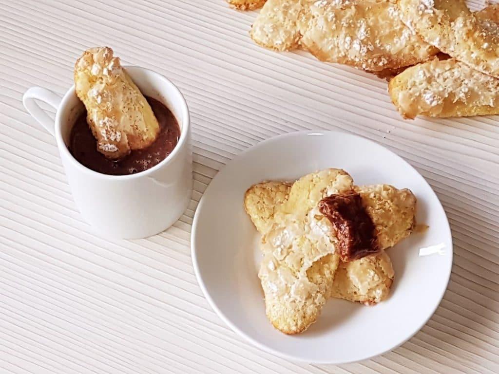 bizcochos de soletilla sin azucar - con chocolate