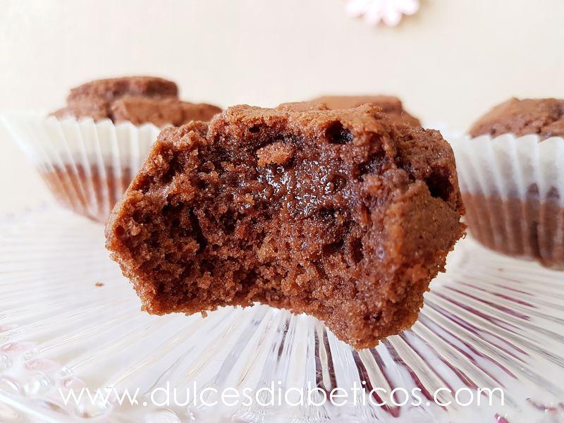 magdalenas de nutella sin azucar - abiertas