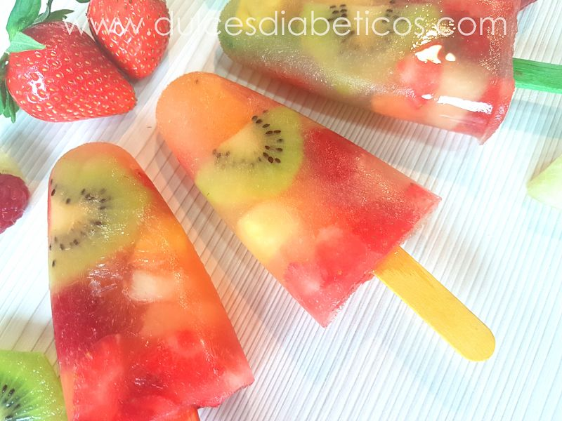 paletas de frutas sin azucar - dulces diabeticos