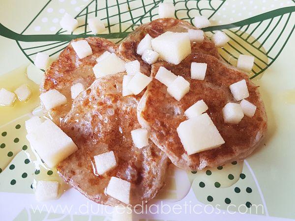 tortitas de manzana saludables - dulces diabeticos