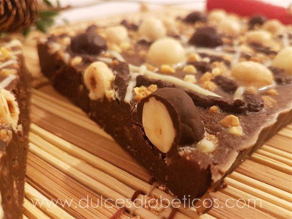 Turron de chocolate y praline de avellanas