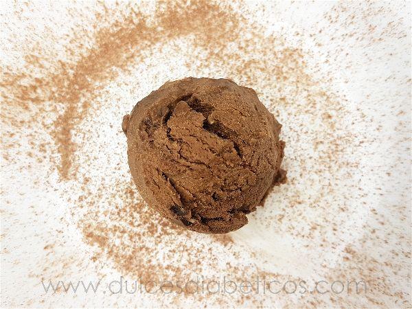 Helado casero de chocolate sin azucar