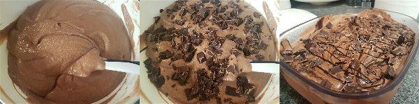 Helado de chocolate sin azucar ni heladera - 4