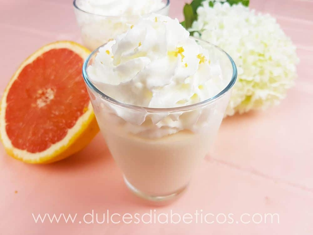 Mousse de pomelo light sin azucar
