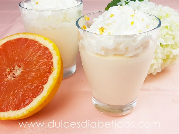 Mousse de pomelo saludable