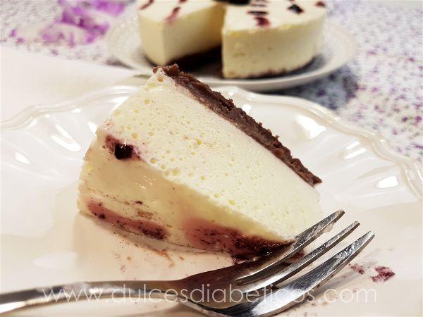 Tarta de mousse de yogur griego - porción