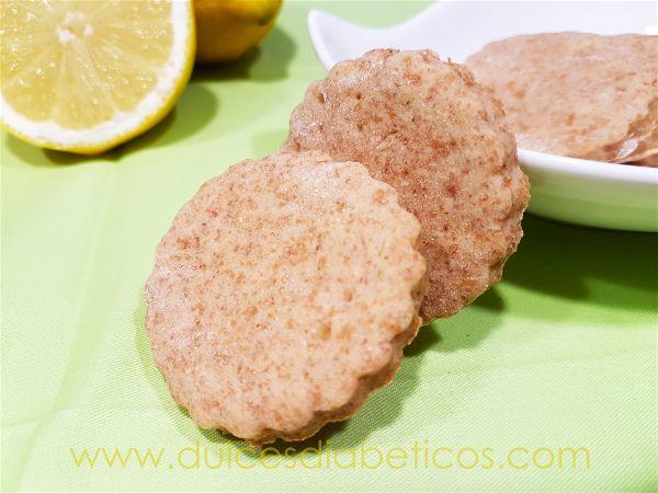 Galletas de limon integrales sin azucar