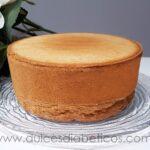 Bizcocho genoves sin azucar - base para tartas