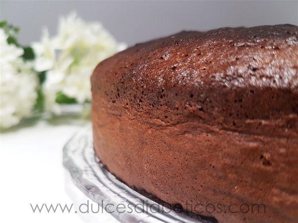 Bizcocho de chocolate sin azucar integral