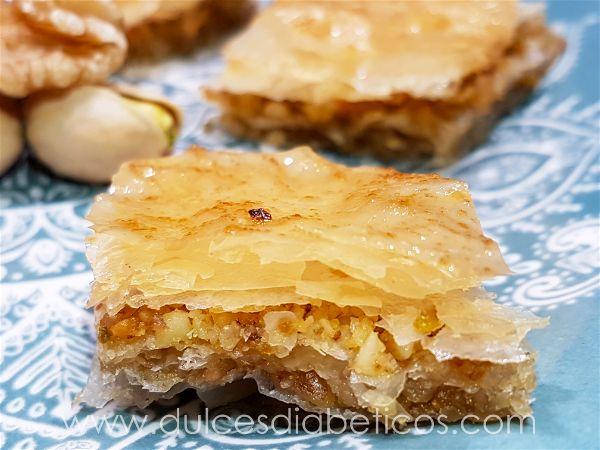 Baklava sin azucar - porcion