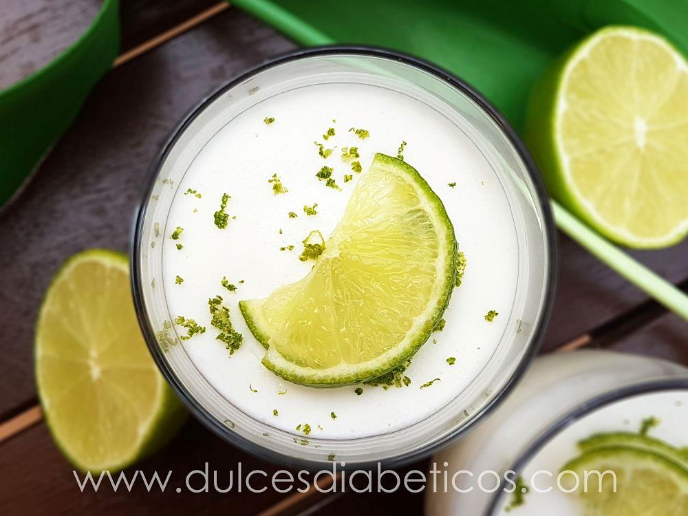 Mousse de lima sin azucar