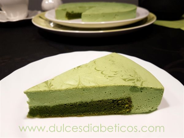 Tarta de te verde light