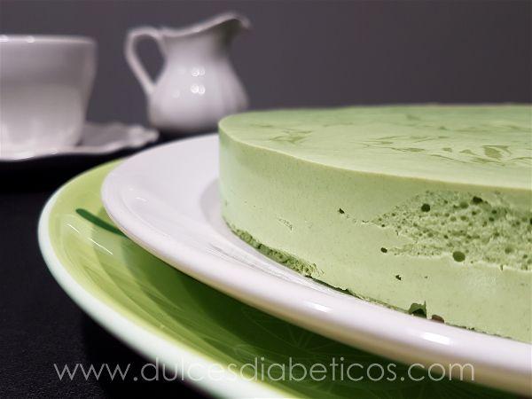Tarta mousse de te verde sin azucar