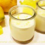Postre de limon sin azucar en vasitos