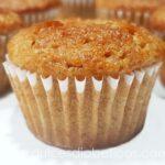 Mini muffins de manzana y canela sin azucar
