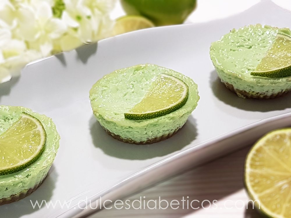 Mini tartas de lima sin azucar