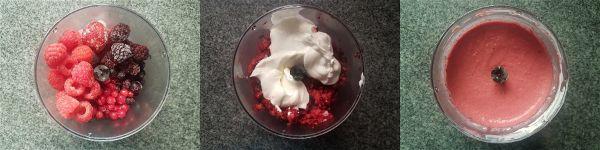 Helado cremoso de frutos rojos sin azucar - 1
