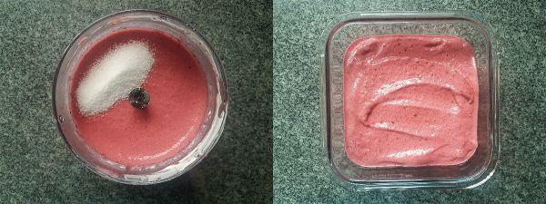 Helado cremoso de frutos rojos sin azucar
