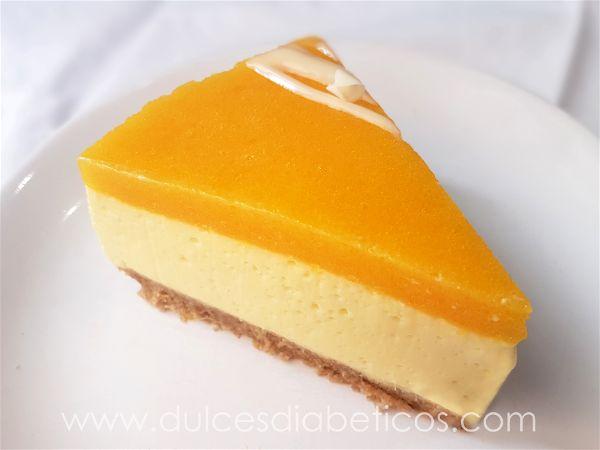 Tarta de mango sin azucar - porcion