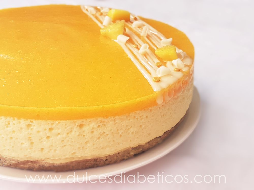 Tarta de mango sin azucar