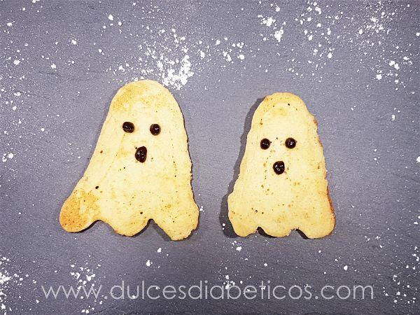 Pancakes con forma de fantasma