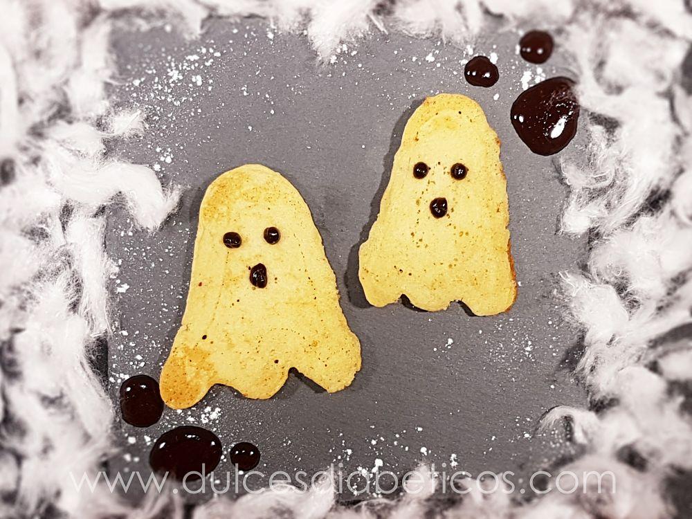 Pancakes de fantasma para halloween