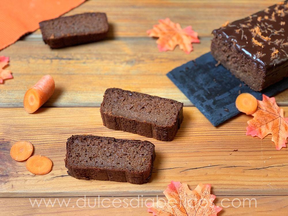 Pastel de zanahoria y chocolate sin azucar