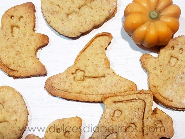 Galletas con formas de halloween sin azucar