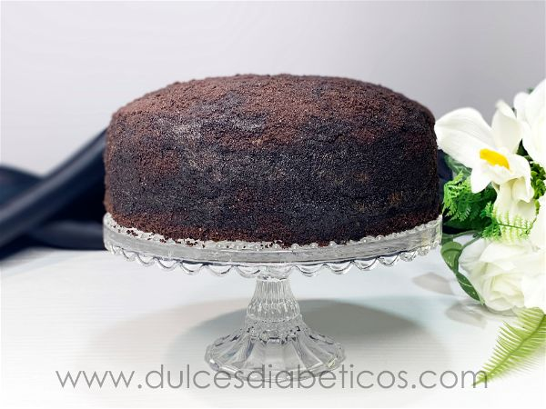 Tarta black velvet con chocolate sin azucar
