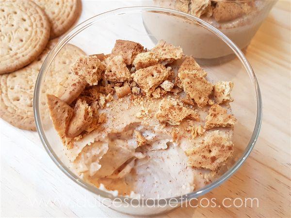 Textura cremosa de la crema de galletas