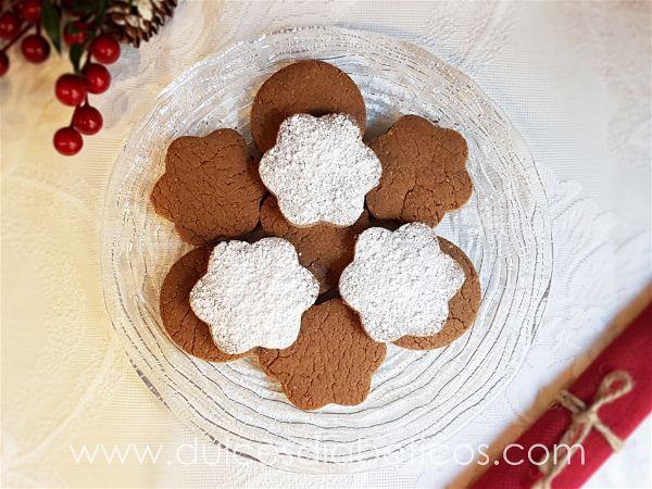 Polvorones de chocolate sin azucar - vista cenital