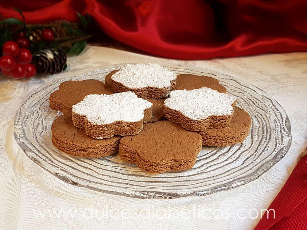 Polvorones de chocolate sin azucar