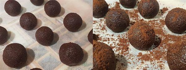 Trufas de platano y chocolate sin azucar - 3