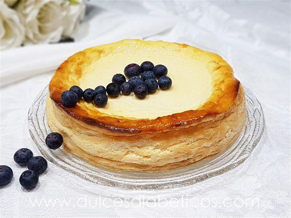 Tarta de queso y yogur griego sin azucar