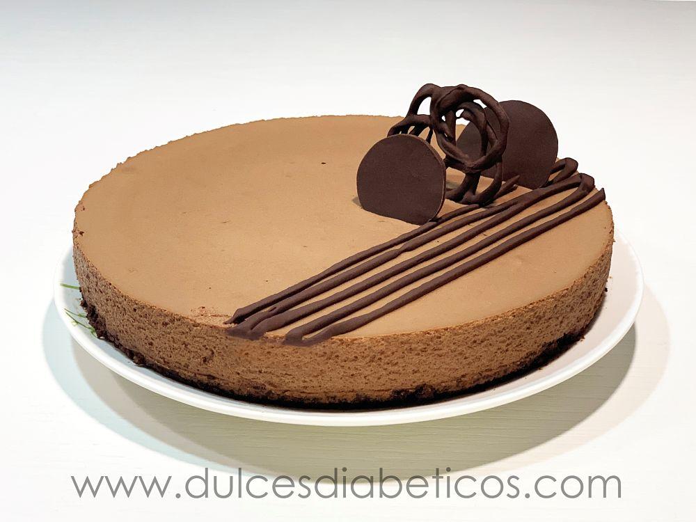 Tarta mousse de chocolate sin azucar sin gluten sin lactosa