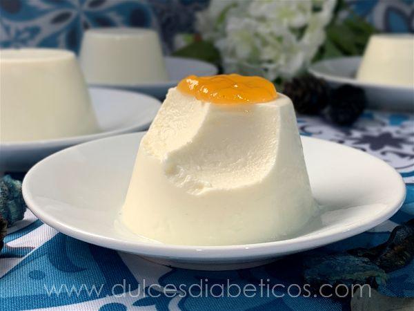 Textura del flan de queso sin azucar