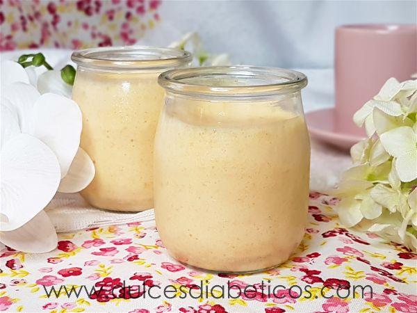 Mousse de albaricoques sin azucar