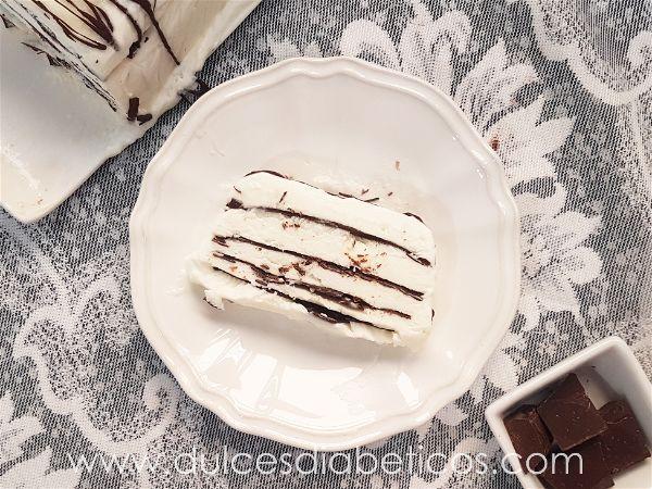 Porcion de comtessa - tarta helada de nata