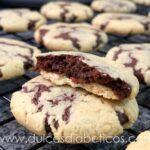 Galletas rellenas de brownie sin azucar