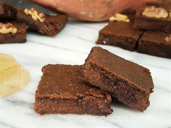 Brownie de boniato sin azucar