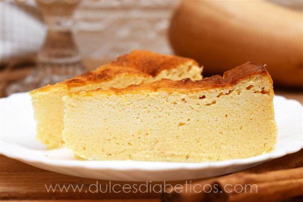 Tarta de queso y calabaza light